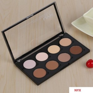 NYX Highlight Contour Pro Palette Powder 8 Shadow Foundation Face Palette Full Size In Box Makeup