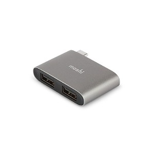 moshi USB-C to Dual USB-A Adapter (Titanium Gray)【日本正規代理店品】変換アダプター USB 3.1 Gen1 ポート 2 つ Thunderbolt...