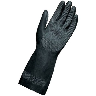 MAPA Technic NS-401 Neoprene and Natural Latex Glove, Chemical Resistant, 0.022 Thickness, 12-1/2...
