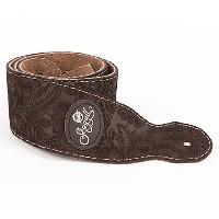 Seagull ギターストラップ Paisley Suede Strap (Brown)