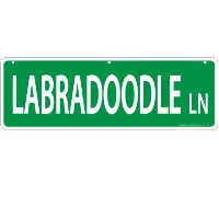 Imagine This Labradoodle Street Sign by Imagine This