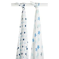 Blisscosy Silky Soft Classic Large Muslin Swaddle Blanket, 2 count 47 inch x 47 inch, Gift Box Set ...