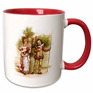 3drose VintageChest – シェイクスピア – Brundage – Twelfth Night – マグカップ 11-oz Two-Tone Red Mug mug_125993_5