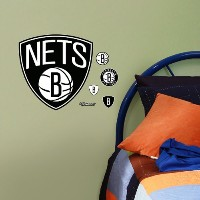 "Brooklyn Nets Nba Fathead Teammate 11 "" x 11 ""ロゴステッカー"