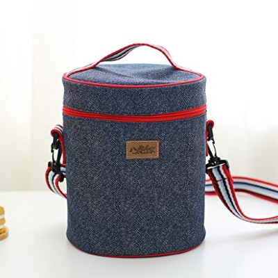 saumota耐久性とポータブルDeminピクニックバッグランチバッグビールクーラーバッグInsulated Tote Bag with Water Bottle bag-a