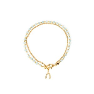 Astley Clarke - Wishbone Biography ブレスレット - women - サファイア/18kt Yellow Gold - ワンサイズ