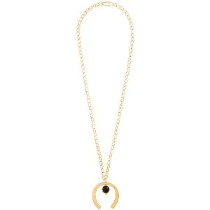 Aurelie Bidermann - Theia アゲート ロングネックレス - women - 18kt Gold Plated Brass/アゲート - ワンサイズ
