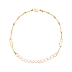 Aurelie Bidermann - Cheyne Walk パールネックレス - women - 18kt Gold Plated Brass/Rose Freshwater Pearl -...