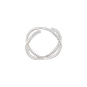 Maria Black - Twin リング - women - Rhodium Plated Sterling Silver - 52.5