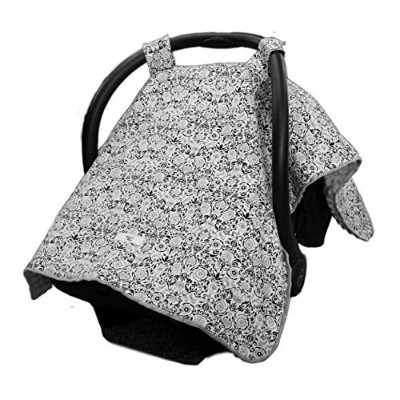 Carseat Canopy - Best Car Seat Canopy for Popular Baby Carseat Models. Covers All Popular Car Seats. Great Baby Shower or Christmas Gift. Breathable Soft Minky Fleece Fabric. Satisfaction Guaranteed. by Maddie Moo
