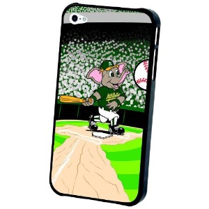 MLB Oakland AthleticsマスコットLenticular iPhone 4 / 4sケース