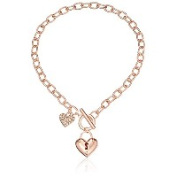 GuessレディースPuffy Heart Toggleネックレス One Size
