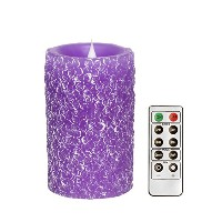 """Moving Flame LED Candle withリモート、クローバーパターン 3.25""""x5.5"""" LM12011"""