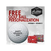 Callaway 2017 Free Personalization Chrome Soft Golf Balls【ゴルフ 特注/オーダーメイド>特注-ボール】