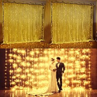3Mx3M 300LED String Light Curtain Light for Christmas Xmas Wedding Party Home Decoration