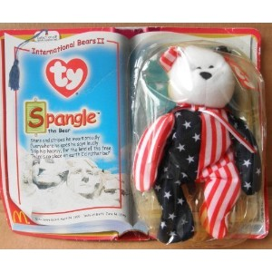 【TY TeenieビーニーBabies Spangle the Bear Stuffed Animal Plush Toy】 b00hhjdo2i