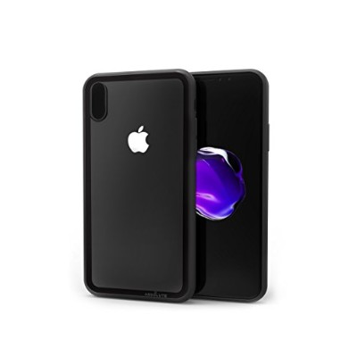 ABSOLUTE TECHNOLOGY iPhone X用 LINKASE CLEARケース Gorilla Glass ブラック縁・ブラックTPU ATLCGIPX/BLK