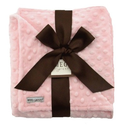 MEG Original Minky Dot Baby Girl Blanket Pink/Pink by MEG Original