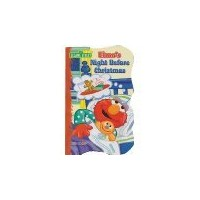 Elmo's Night Before Christmas - Shaped Board Book by Sesame Street