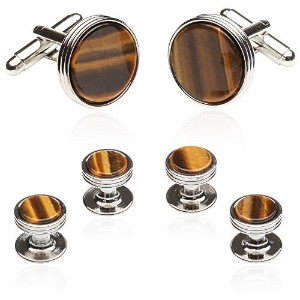 Tigers Eye Formal Set inシルバーby Jewelry Mountain