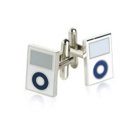 mp3Player Cufflinks inホワイトby Jewelry Mountain