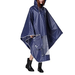Zhhlinyuan レインコート Windproof Waterproof Motorcycle Scooter Raincoat Rainwear Rain Poncho With Mirror...