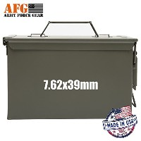 Army Force Gear新しいメタルAmmo Can 50 Cal all-metal防水with 7.62 X 39 mm Caliberデカール3のラベルのセット、ホワイト、ステッカー