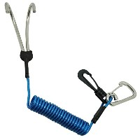 Scuba Diving SS Reef Drift Double Hook with 1.3M Spiral Coil Lanyard [並行輸入品]