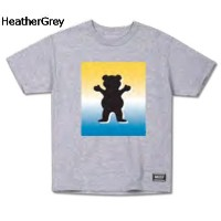【GRIZZLY】グリズリー2017春夏 Poster OG Bear Logo Cubs Tee キッズ 半袖Tシャツ TEE ティーシャツ ボーイズ スケートボード HeatherGrey M