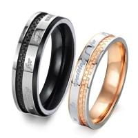 I Would Like to Be Waiting for You Until Always 'his & Hers Matching Set恋人カップルリング289
