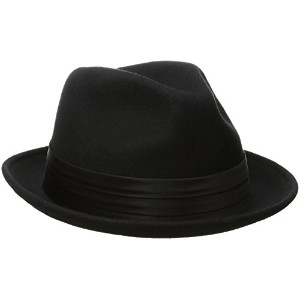 Stacy Adams Saw566-Blk3 1/Sa Crush Felt Fedora- L Hat