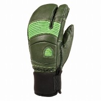14-15MODEL HESTRA LEATHER FALL LINE 3-FINGER -Forest/Green-  Size:9