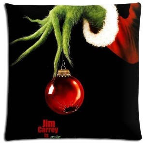 18x18 inch 45x45 cm bench pillow shells cases Cotton - Polyester Imported Custom How the Grinch...