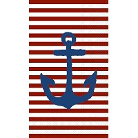 Boston International 16 Count Yacht Club 3-Ply Paper Guest Towel Napkins, Red Anchor by Boston...