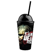 """16oz公式The Walking Dead """" Beware the Biters """"ブラックゾンビプレミアムタンブラーwithドーム蓋、アクリルStraw"""