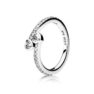 PANDORA Rings パンドラリング永遠の心-Forever Hearts Ring, Clear CZ