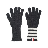 Thom Browne - intarsia stripe cashmere gloves - men - カシミア - ワンサイズ