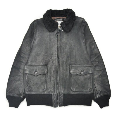 "【USED】GANGSTERVILLE JACK G1 - JACKET ""COW HIDE"" (BLACK) ギャングスタービル ヴィンテージ加工 カウハイド G-1 レザージャケット..."