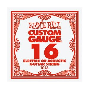 ERNiE BALL / Electric or Acoustic Steel Plain 1016 .016 バラ弦 【エレキギター弦】【Electric Guitar Strings】...