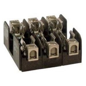 Mersen 20303 Class H and K Non-Spring Reinforced Fuse Block with Box Connector, #2-14 Wire Range,...