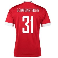 Adidas Schweinsteiger #31 Manchester United Home Soccer Jersey 2015 YOUTH/サッカーユニフォーム マンチェスター...
