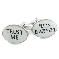 Trust Me Real Estate Cufflinks by Jewelry Mountain