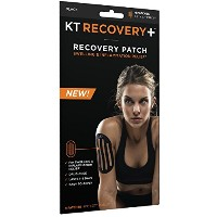 KT TAPE Recovery Drug-Free Elastic Edema Patches (4 Patches), Black by KT Tape