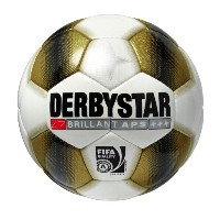 Derby Star Ballon de football en APS Or/brillant Blanc or 5