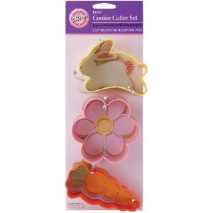Cookie Cutter Set 3/Pkg-Carrot, Bunny And Flower (並行輸入品)