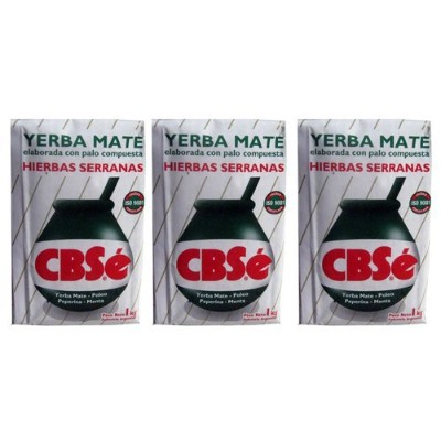 Yerba Mate CBSe x 3 KG Argentina Green Tea 6.6 lb Natural Herb Bag Slim Diet New by CBSe