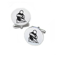 Youngstown State PenguinsステンレススチールRound Cufflinks