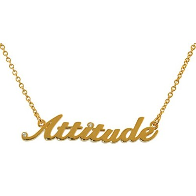 Attitude gold-toned – by Inspired Treasures