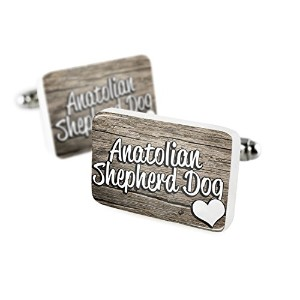 Cufflinks Anatolian Shepherd Dog、犬Turkey磁器セラミックNEONBLOND