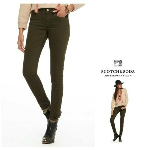 MAISON SCOTCH【 スコッチ&ソーダ★メゾンスコッチ 】La Bohemienne Sateen Pants Mid-rise skinny fitスキニー カラーパンツCOLOR:【...